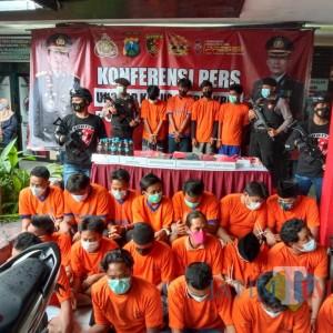 Polres Bangkalan Tunjukkakn Puluhan Tersangka Hasil Gelar Operasi Pekat