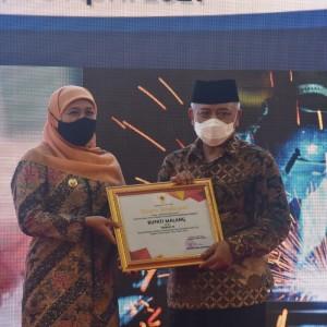 Bupati Malang HM Sanusi Dapat Penghargaan Pembina K3 Terbaik se-Jatim