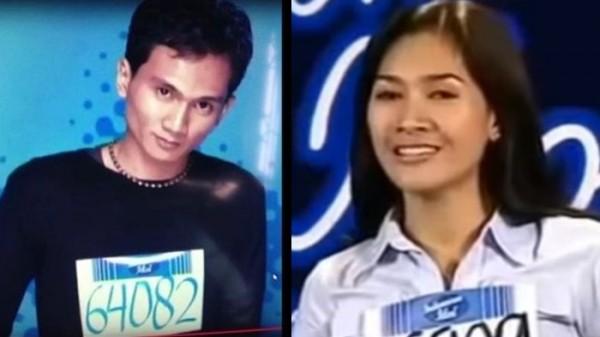 Anji (kiri) dan Tata Janeeta, dua penyanyi terkenal yang dulu tak lolos di Indonesian Idol. (Foto: YouTube Gembel Kaya)