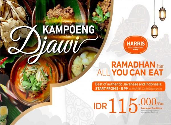 Promo buka puasa All You Can Eat Kampoeng Djawi HARRIS Hotel & Conventions Malang, menjadi menu yang wajib dicoba saat buka puasa (istimewa)