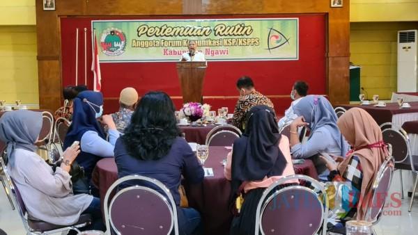 Forum komunikasi KSP/KSPPS di Kabupaten Ngawi rutin dilaksanakan setiap bulan sebagai sarana saling tukar informasi. (Satria Romadhoni/ JatimTIMES)