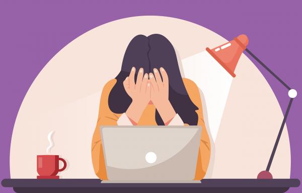 Ilustrasi stres akibat belajar daring. (Sumber : Pixabay)