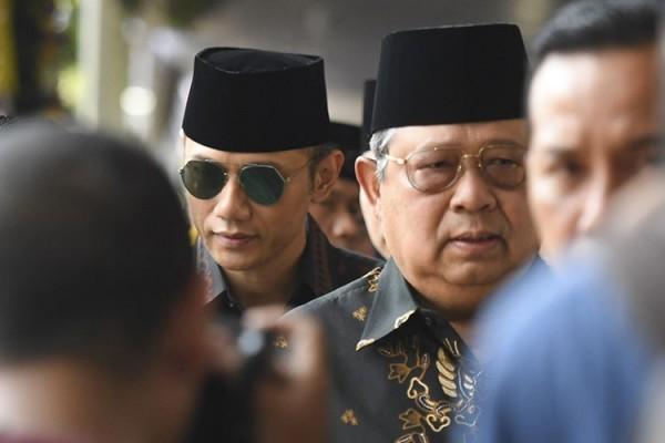 SBY dan AHY (Foto: Kompas.com)