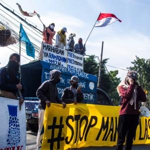 Sejumlah Aktivis Pemerhati Sampah di Gresik Merapat Lakukan Aksi di Sidoarjo