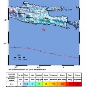 Tingkat II-IV, Getaran Gempa Pagi Terasa di 10 Wilayah