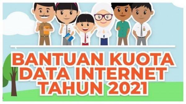 Poster Bantuan Kuota Data Internet Kemendikbud tahun 2021 (sumber: web kemendikbud)