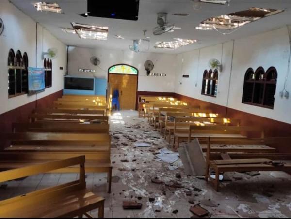 Sebuah bangunan di Kabupaten Blitar rusak akibat gempa.(Ist)