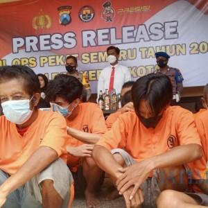 14 Hari, Polres Kediri Kota Ungkap 101 Kasus