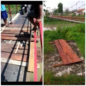 Diberondong Komplain Warga, Kades Waung Berharap Jembatan Gantung Segera Diperbaiki