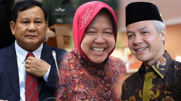 Prabowo, Risma, dan Ganjar (Foto: IST)
