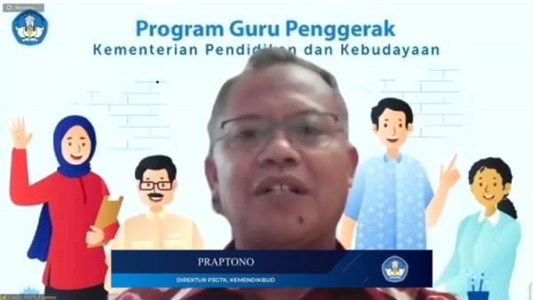 Praptono, Direktur PPP GTK dalam peluncuran Program Guru Penggerak (Sumber: Youtube Channel Kemdikbud RI)