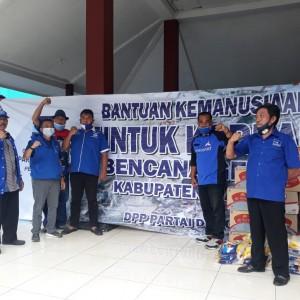 Teruskan Program DPP, DPC Partai Demokrat Kabupaten Malang Salurkan Bantuan Korban Gempa