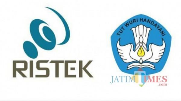 Logo dari Kemenristek (kiri) dan Kemendikbud