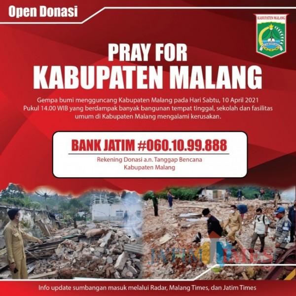 Banner open donasi Pemkab Malang. (foto: istimewa)
