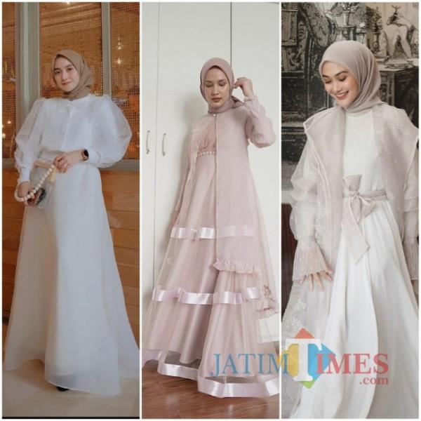 Inspirasi aneka tulle dress ala hijabers. (Foto: source Instagram).