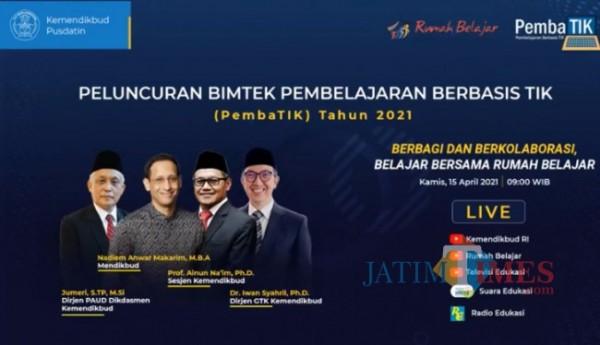 Poster peluncuran Program Pemba TIK (Sumber: Screenshot YT Kemdikbud)