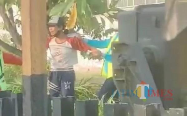 Potongan video yang beredar di media sosial. / Foto : Istimewa /Tulungagung TIMES