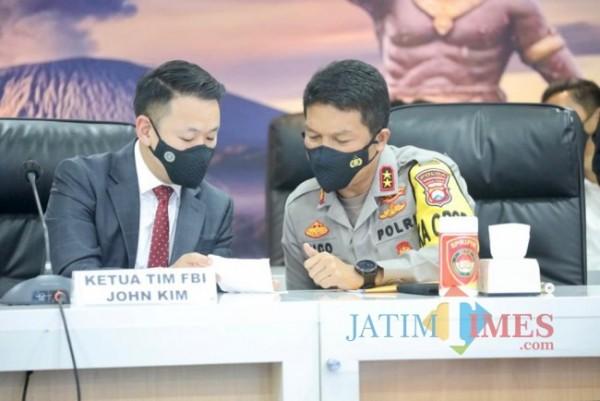 Prees release yang digelar Polda Jatim