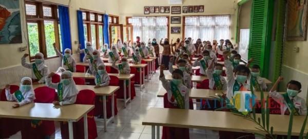 Simulasi PTMT di SDN Kasin Kota Malang (Ist)