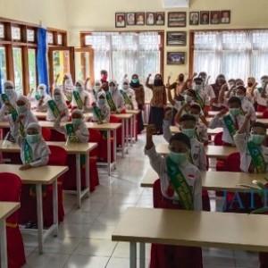 19 April 2021 Pembelajaran Tatap Muka, SDN Kasin Gelar Simulasi PTMT