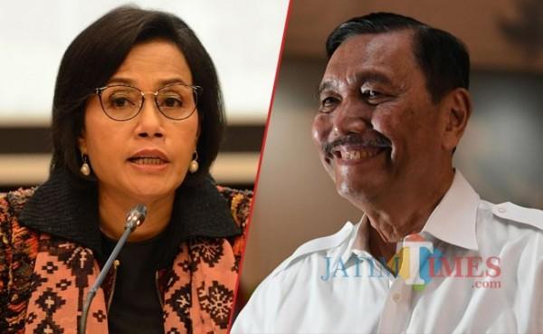 Sri Mulyani dan Luhut Binsar (Foto: IST MalangTIMES)