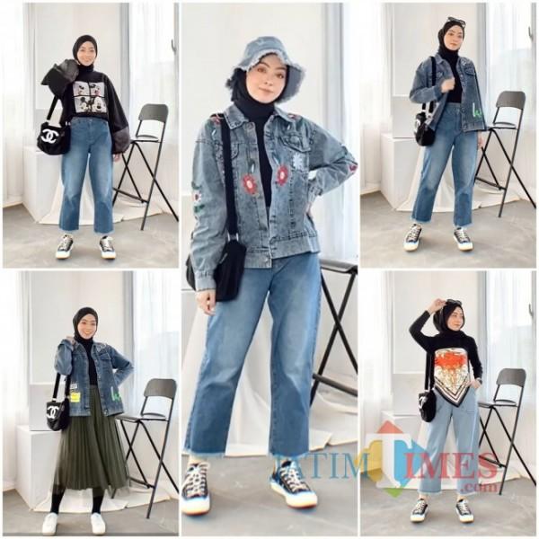 Aneka outfit jeans untuk segala aktivitas ala hijabers. (Foto: Instagram @meiraniap).
