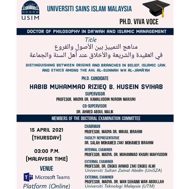 Habib Rizieq ikut disertasi