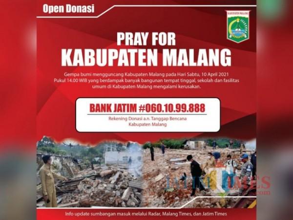 Open Donasi Tanggap Bencana Kabupaten Malang (Ist.)