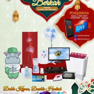 Dobel Kupon Dobel Hadiah, Graha Bangunan Gelar Undian Berkah di Bulan Ramadan