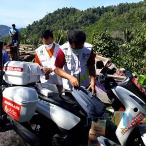 Dinkes Lumajang Turunkan Ambulance Motor ke Lokasi Korban Gempa