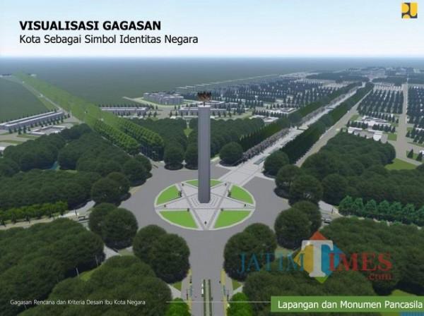 Ibu kota baru (Foto: CNBC Indonesia)
