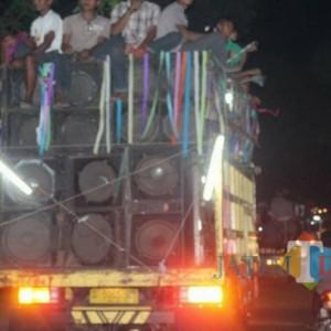 Sahur On The Road Dilarang di Tulungagung, Membandel Polisi Sita Kendaraan dan Peralatan