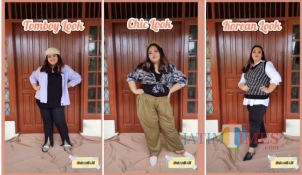 Inspirasi outfit untuk acara Bukber buat si pemilik tubun gemuk. (Foto: Instagram @atractive.id).