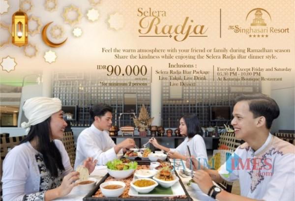 Sajian menu Ramadan The Singhasari Resort and Convention Kota Batu (Foto: istimewa)