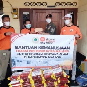 Peduli Korban Gempa, Fraksi PKS DPRD Kota Malang Salurkan Bantuan