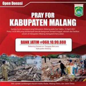 Update Donasi Masuk Tanggap Bencana Kabupaten Malang 20 April 2021, Berikut Ini Rincian Donaturnya