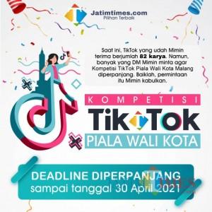 Deadline Kompetisi TikTok Piala Wali Kota Malang Diperpanjang, Cek Jadwalnya di Sini