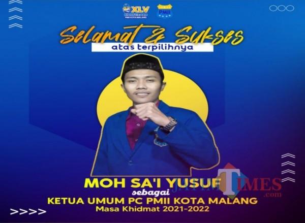 Muhammad Sa'i Ketua umum Pergerakan Mahasiswa Islam Indonesia(PMII) Cabang Kota Malang periode 2021-2022 (Ist)