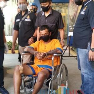Kabur,  Pencuri Mobil Ditembak Resmob Polres Jember