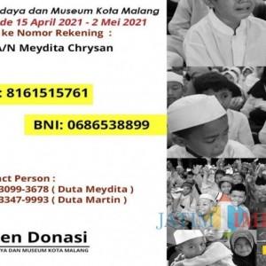 Aplikasi Semangat Peduli dan Berbagi HUT Kota Malang, Duta Budaya dan Museum Kota Malang Inisiasi Open Donasi
