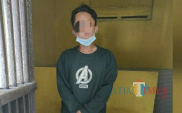 RDP saat diamankan di Mapolsek Campurdarat / Foto : Dokpol / Tulungagung TIMES