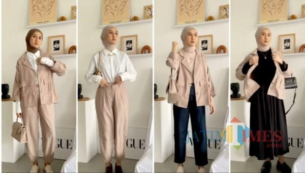 Tips pemakaian one set outfit untuk 4 style berbeda. (Foto: Instagram @inasrana).