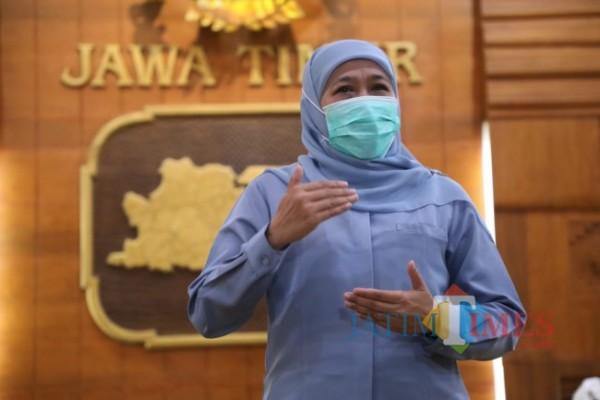 Gubernur Jatim Khofifah Indar Parawansa (Foto: Marzuki/JatimTIMES)