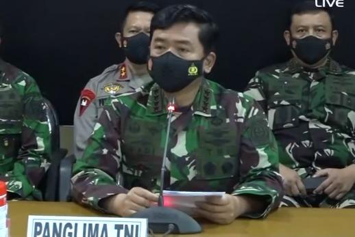 Panglima TNI Hadi Tjahjanto Saat Siaran Langsung Konferensi Pers (Dok. Tangkapan Layar Konferensi Pers)