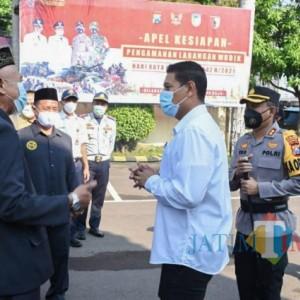 Wali Kota Kediri Pimpin Apel Kesiapan Pengamanan Larangan Mudik Idul Fitri