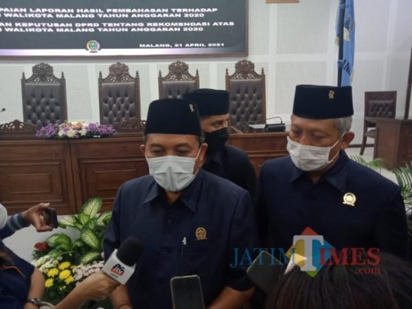 Ketua DPRD Kota Malang I Made Riandiana Kartika saat ditemui awak media beberapa waktu lalu di gedung DPRD Kota Malang. (Foto: Tubagus Achmad/MalangTIMES)