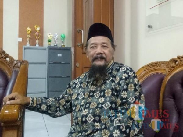 Sosok Ketua Lesbumi PBNU KH Agus Sunyoto saat ditemui MalangTIMES.com beberapa waktu silam. (Foto: Dok. JatimTIMES.com)