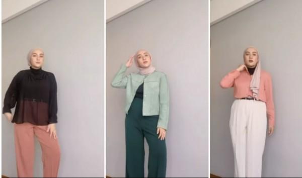 Tios bergaya simple untuk hijabers. (Foto: Instagram @ashryrrabani).