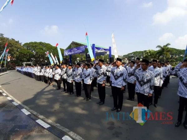 Aparatur Sipil Negara (ASN) Pemkot Malang. (Arifina Cahyanti Firdausi/MalangTIMES).
