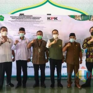 Rakor dengan KPK, Pemkab Pamekasan Mendapat Apresiasi Bersih dari Korupsi